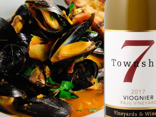 T7 Viognier and mussles